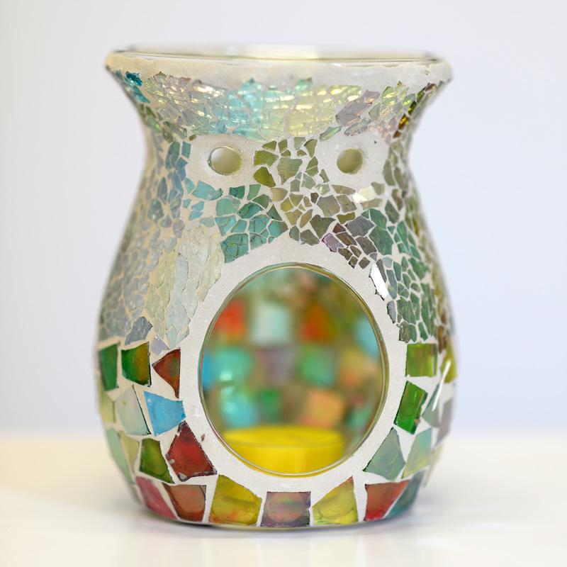Mosaic Emerald Green Amp Pink Kaleidoscope Crackle Oil